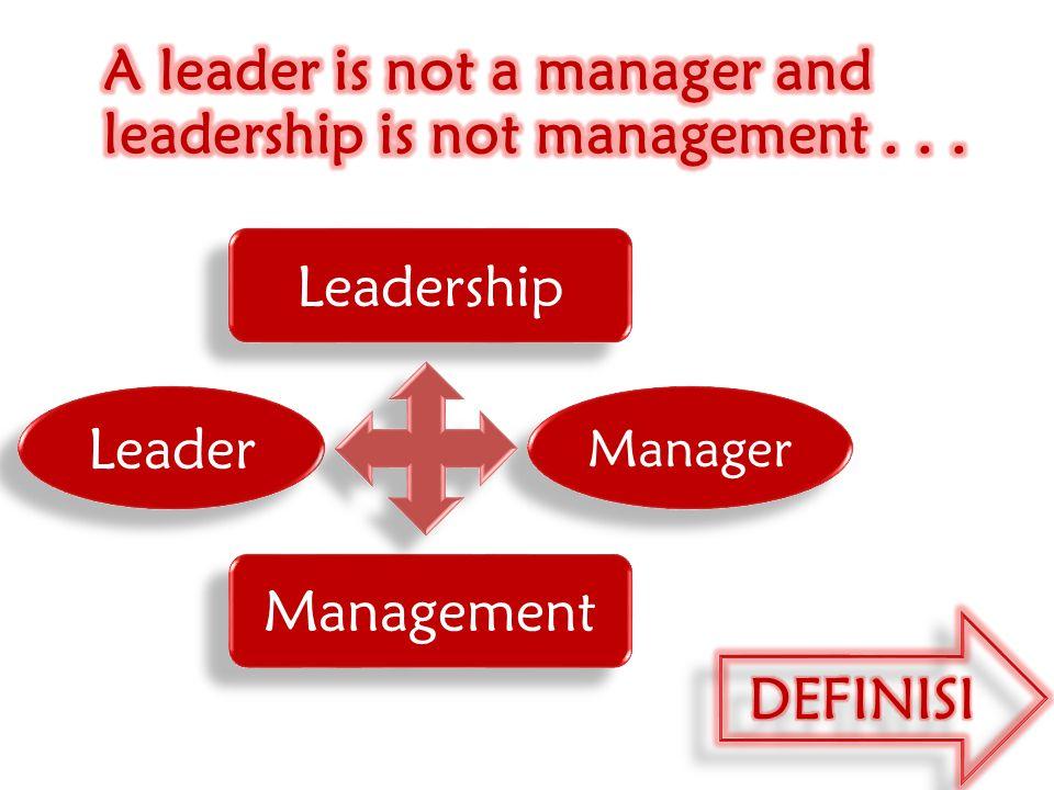 PEMIMPIN (LEADER) Pemimpin adalah satu orang dan orang tersebut harus mampu mengendalikan bawahannya dengan cara mengarahkan, membimbing, dan memberikan tanggung jawab untuk mencapai tujuan yang dikehendaki.
