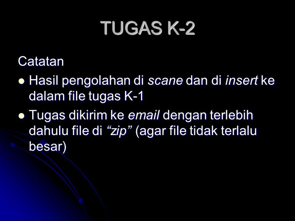 TUGAS K-2 (Individual) 1. Buat langkah-langkah pengadministrasian AUM PTSDL 2. Lakukan pengolahan terhadap LJ - AUM PTSDL (berkelompok) a. Manual b. K