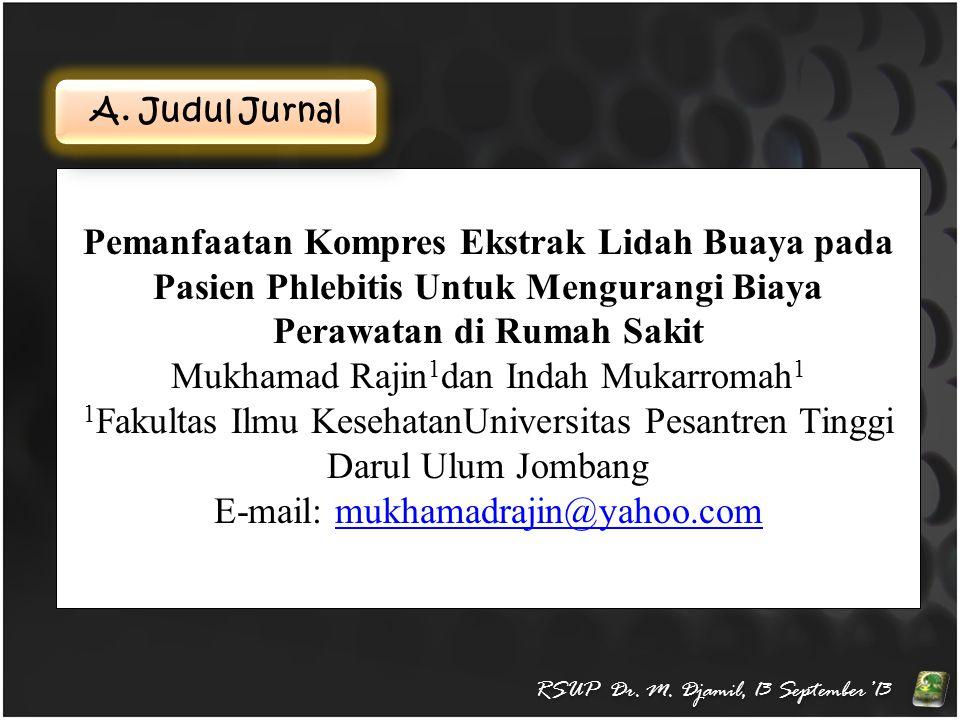 E.Hasil Penelitian RSUP Dr. M.