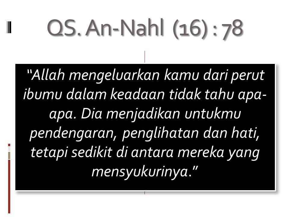 QS. An-Nahl (16) : 78