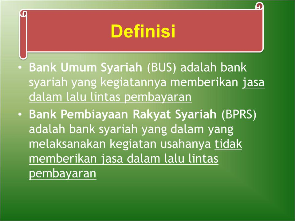 Prinsip Mudharabah Akad antara pemilik dana dan pengelola dana untuk memperoleh keuntungan => dibagi sesuai nisbah yang disepakati pada awal akad Berdasarkan kewenangan yang diberikan kepada mudharib – Mudharabah mutlaqah (Investasi Tidak Terikat / Unrestricted Invesment) Aplikasi dalam perbankan => deposito, tabungan – Mudharabah Muqayyadah ( Investasi Terikat / Restricted Invesment