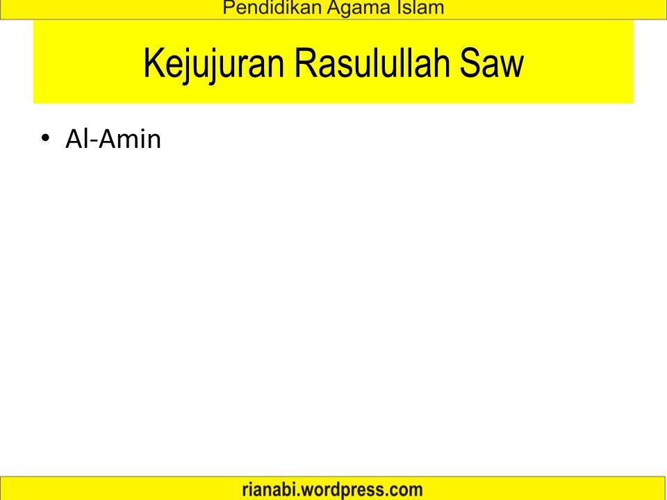 Kejujuran Rasulullah Saw Al-Amin