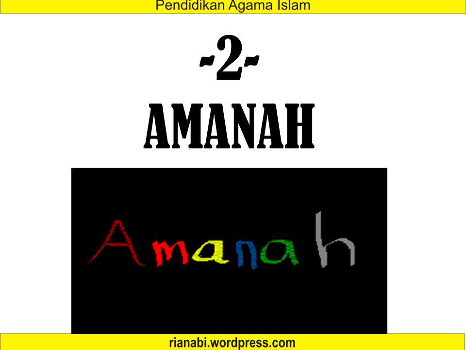 -2- AMANAH