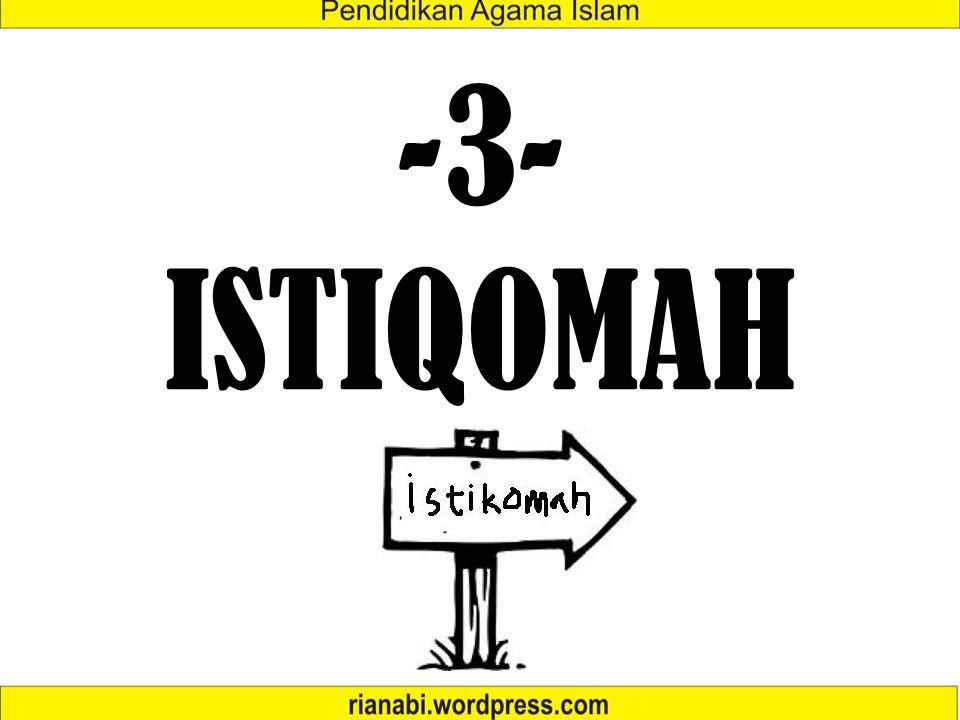 -3- ISTIQOMAH