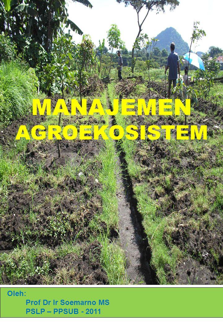 Oleh: Prof Dr Ir Soemarno MS PSLP – PPSUB - 2011 MANAJEMEN AGROEKOSISTEM