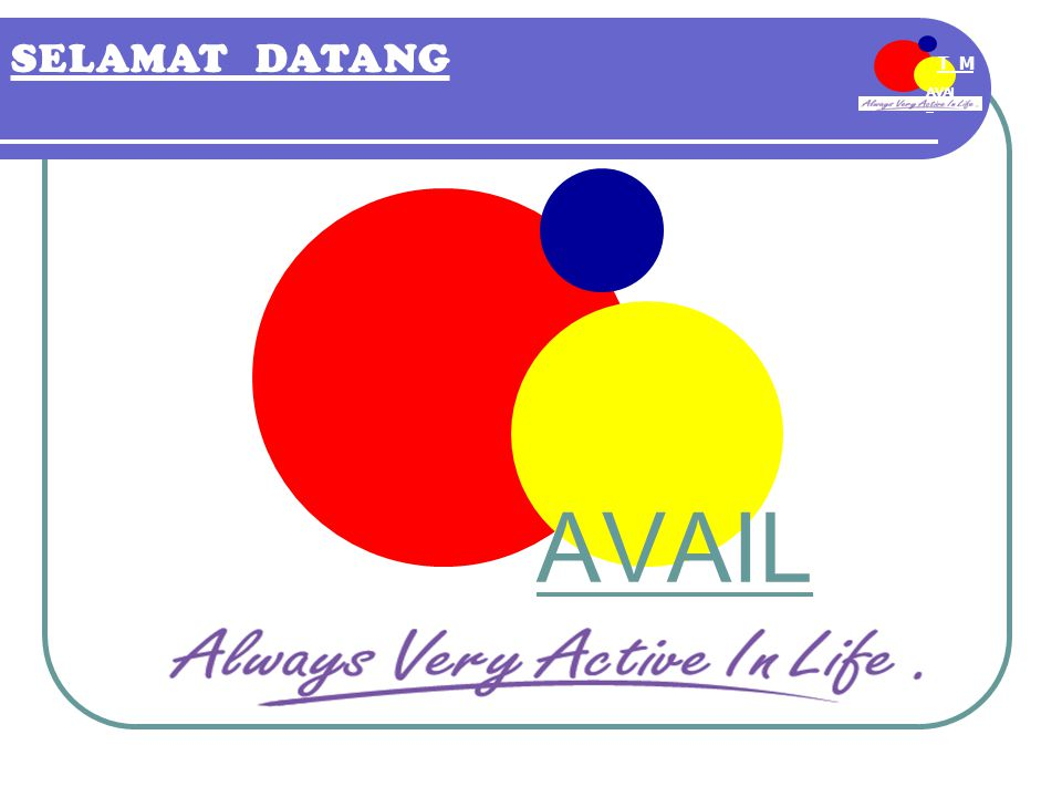 AVAI L T M EE-MDN SELAMAT DATANG AVAIL