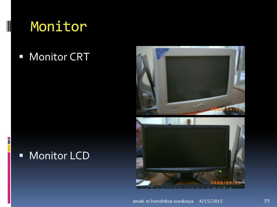 Monitor  Monitor CRT  Monitor LCD 4/15/2015smak st.hendrikus surabaya 19