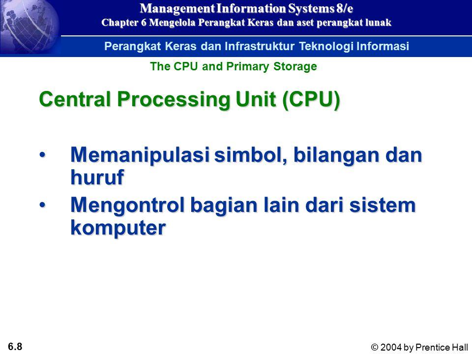 6.7 © 2004 by Prentice Hall Management Information Systems 8/e Chapter 6 Mengelola Perangkat Keras dan aset perangkat lunak Tabel ASCII