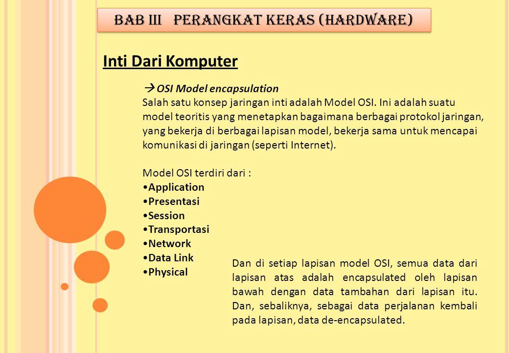  OSI Model encapsulation Salah satu konsep jaringan inti adalah Model OSI. Ini adalah suatu model teoritis yang menetapkan bagaimana berbagai protoko