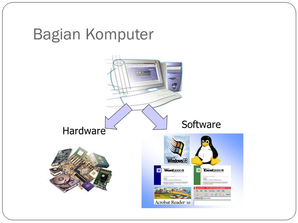 Perangkat Keras (Hardware) INPUT (teks, gambar, instruksi simbol dll) PROSES Data menjadi Informasi OUTPUT (informasi, cetakan, suara, dll) Storage