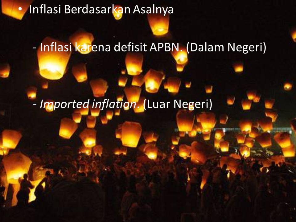 Inflasi Berdasarkan Asalnya - Inflasi karena defisit APBN.