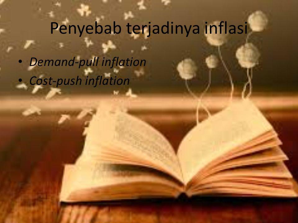Penyebab terjadinya inflasi Demand-pull inflation Cost-push inflation