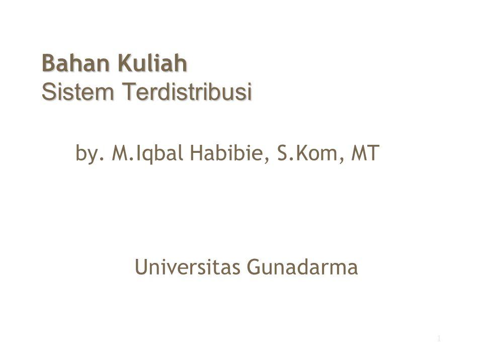 1 Bahan Kuliah Sistem Terdistribusi by. M.Iqbal Habibie, S.Kom, MT Universitas Gunadarma