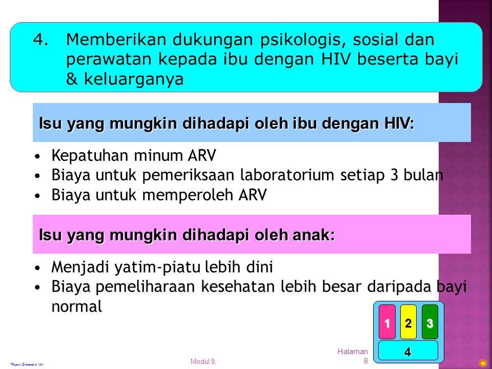 Modul 9, Halaman 9 Pemberian Obat Antiretrovirus
