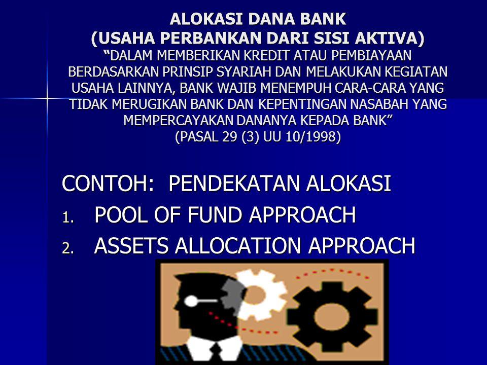 """ALOKASI DANA BANK (USAHA PERBANKAN DARI SISI AKTIVA) """"DALAM MEMBERIKAN KREDIT ATAU PEMBIAYAAN BERDASARKAN PRINSIP SYARIAH DAN MELAKUKAN KEGIATAN USAHA"""