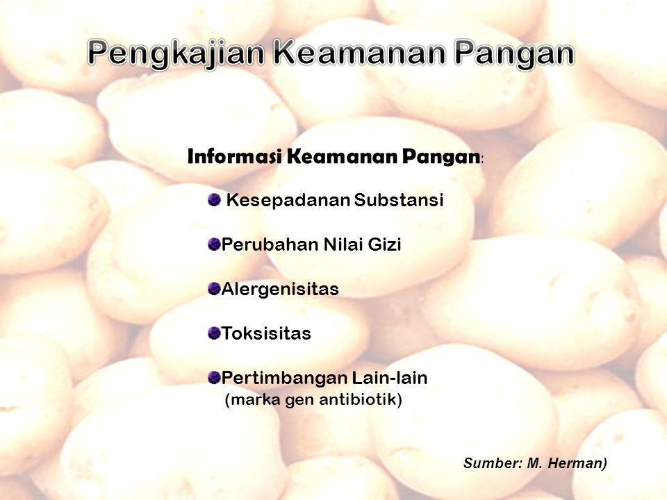 (Tanaman Transgenik) Uji Keunggulan dan Kebenaran (3 lokasi pertanaman kentang)  Badan Benih Nasional  Tim Penilai dan Pelepas Varietas Dilepas Oleh Menteri Pertanian