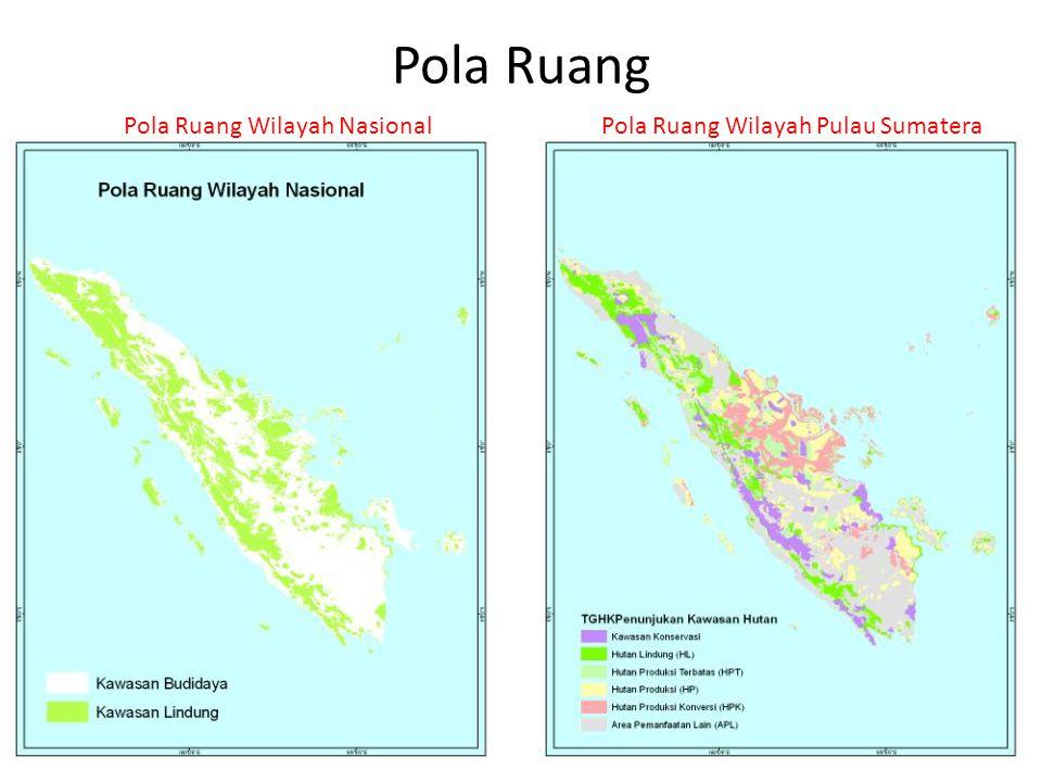 Pola Ruang Pola Ruang Wilayah NasionalPola Ruang Wilayah Pulau Sumatera