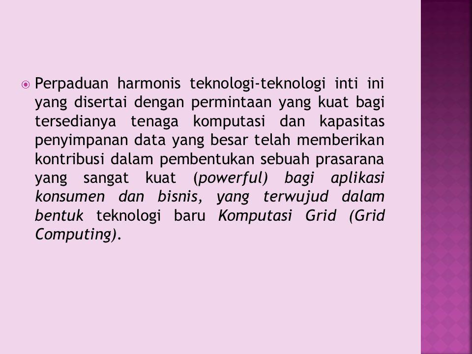  Perpaduan harmonis teknologi-teknologi inti ini yang disertai dengan permintaan yang kuat bagi tersedianya tenaga komputasi dan kapasitas penyimpana
