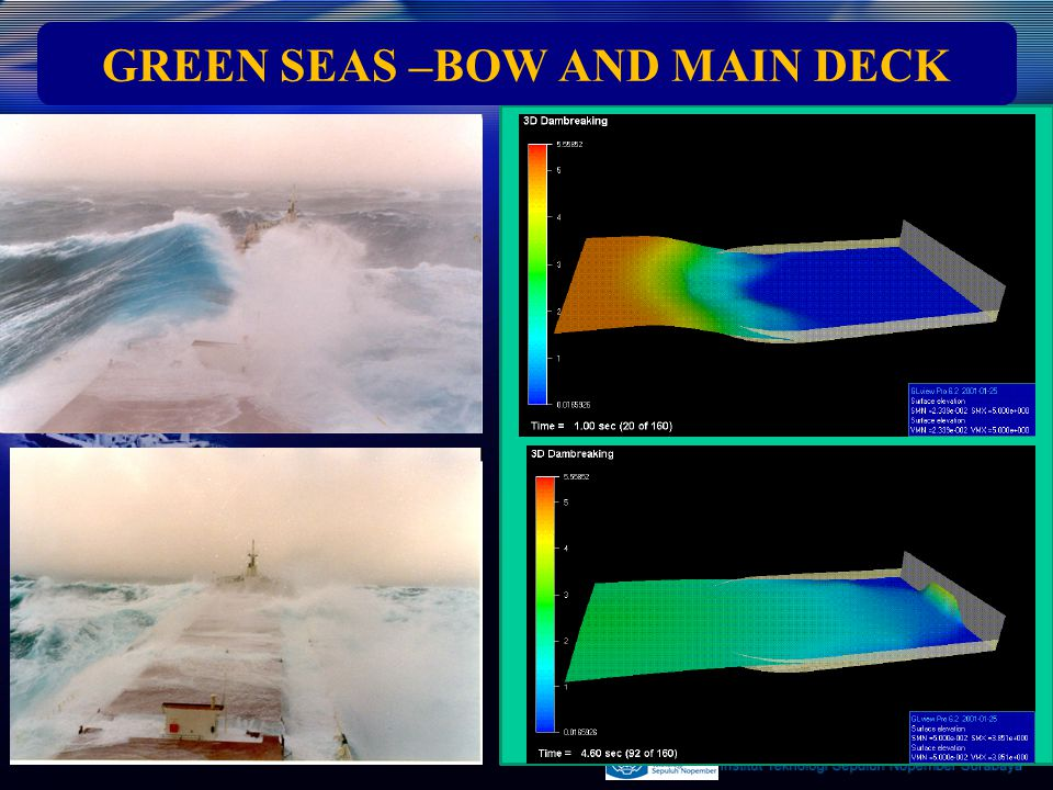 GREEN SEAS –BOW AND MAIN DECK