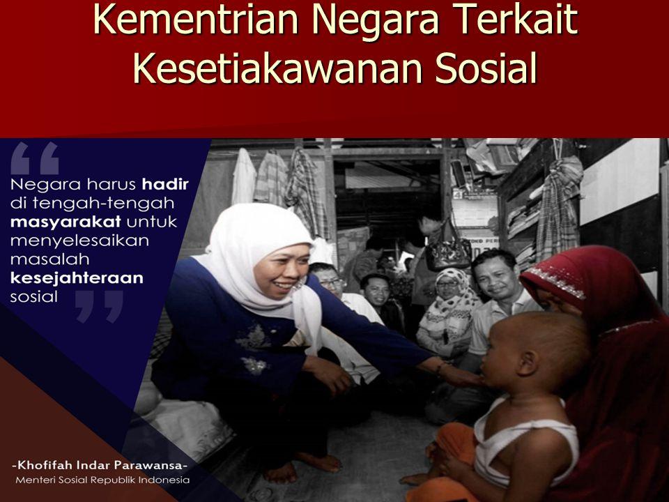 Kementrian Negara Terkait Kesetiakawanan Sosial