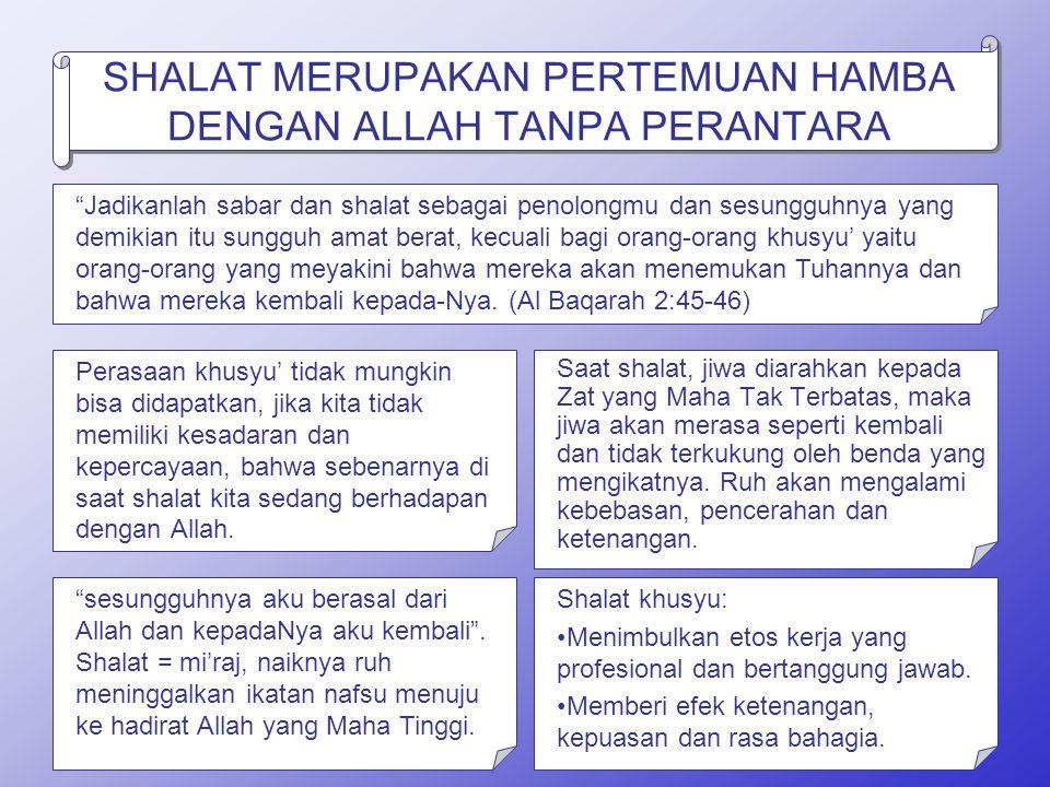 Gunakanlah Pakain yang bersih Hai anak adam pakailah perhiasanmu (pakaian yg bagus) ketika hendak shalat di Masjid (QS Al-Araf 31)
