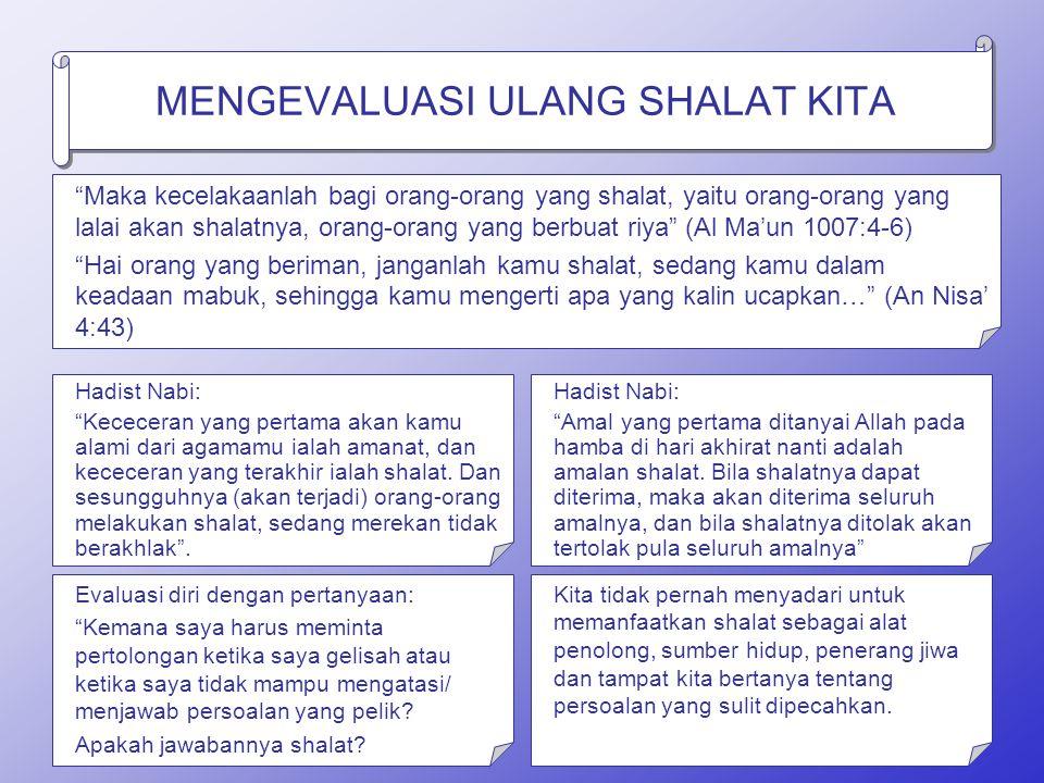 MENGAPA SHALAT KHUSYU' SULIT DIDAPAT.
