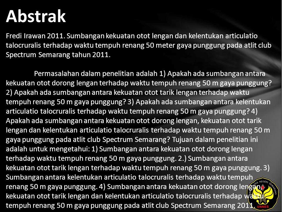 Abstrak Fredi Irawan 2011.