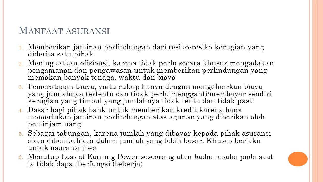 M ANFAAT ASURANSI 1.