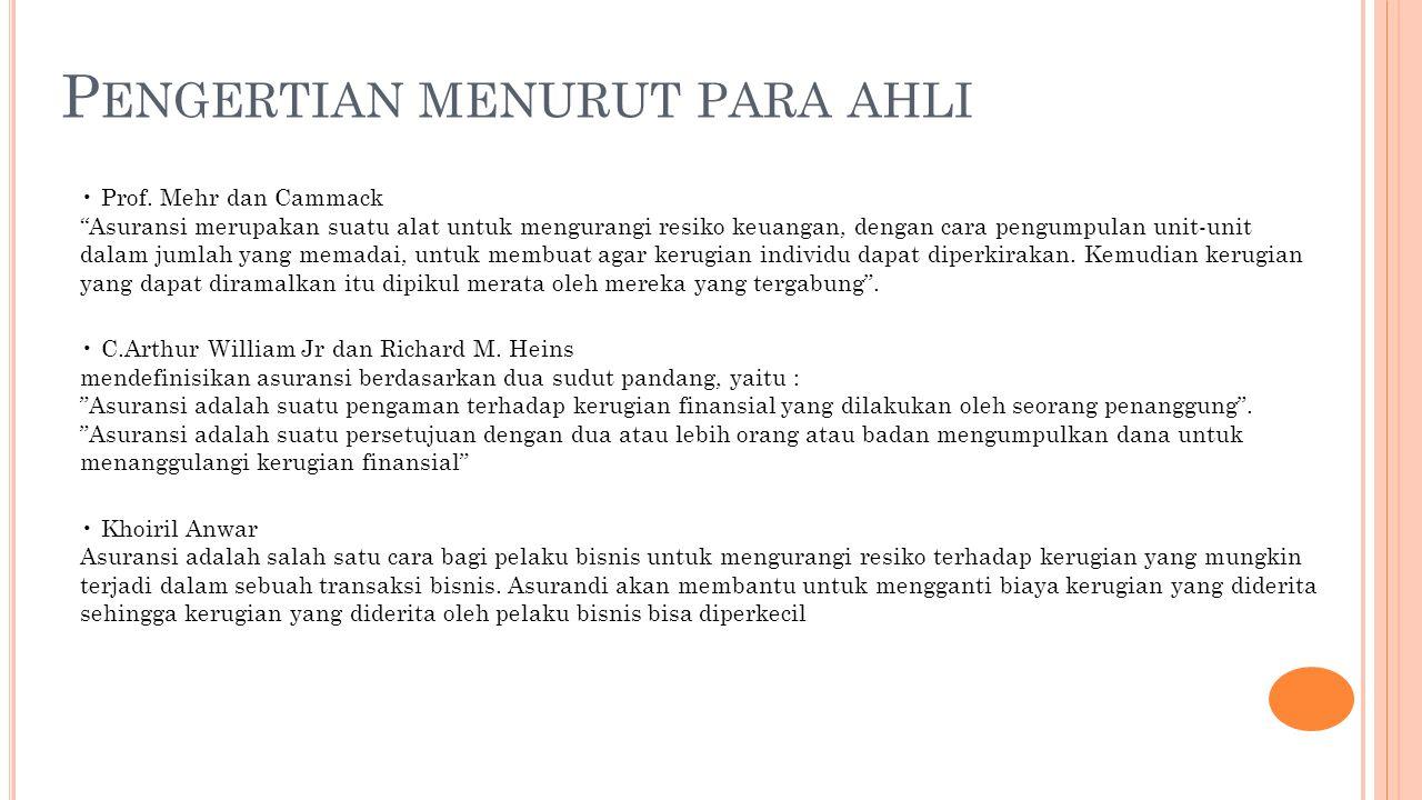 P ENGERTIAN MENURUT PARA AHLI Prof.