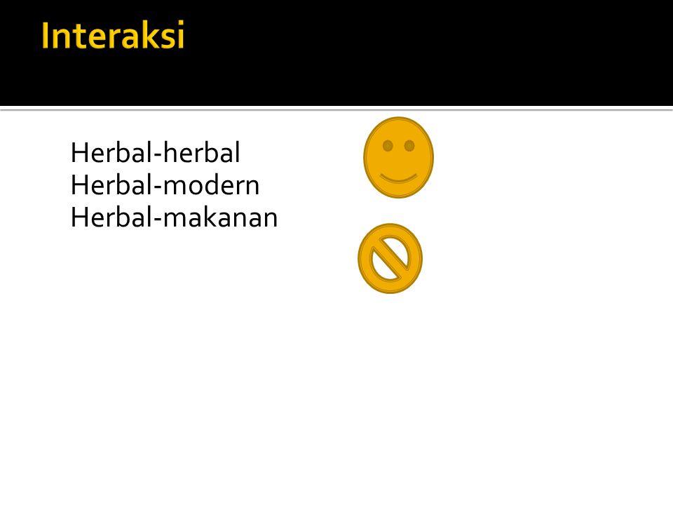 Herbal-herbal Herbal-modern Herbal-makanan
