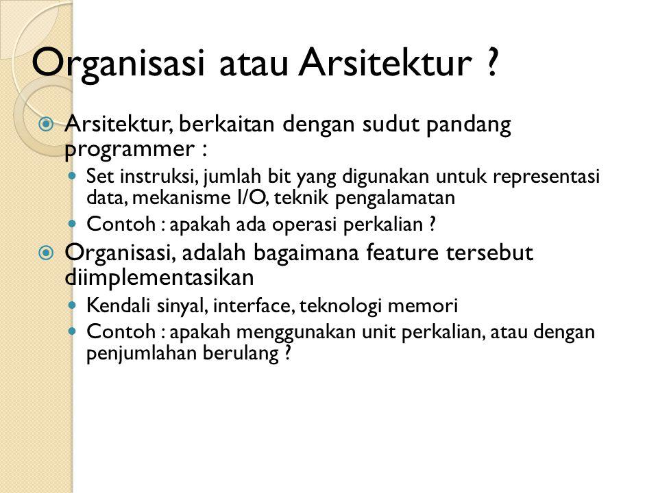 Organisasi atau Arsitektur .