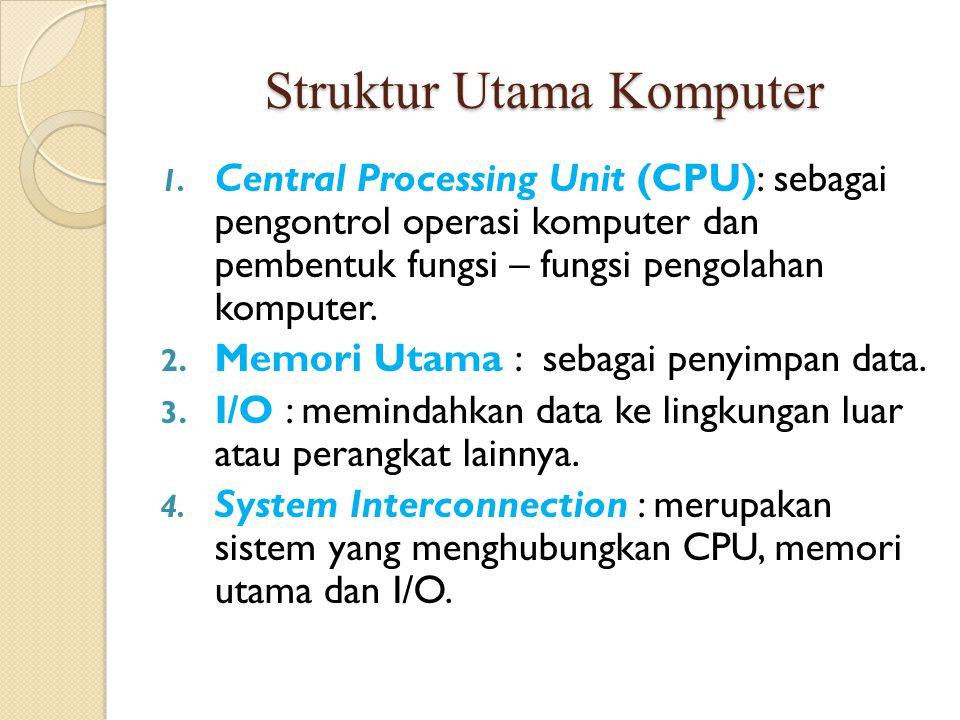 Struktur Utama Komputer 1.