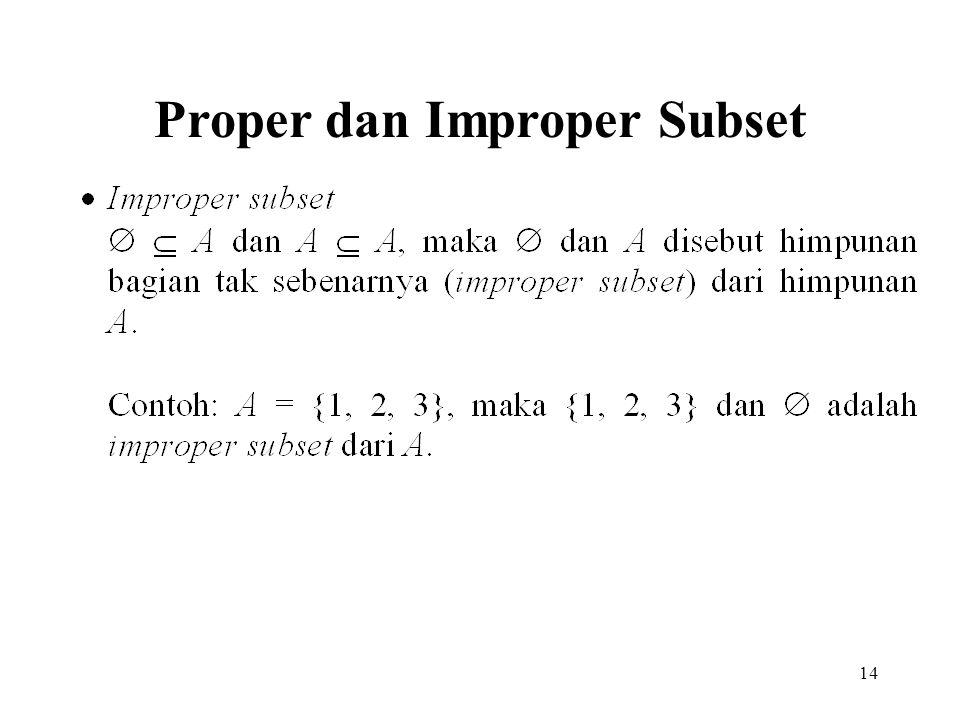 14 Proper dan Improper Subset