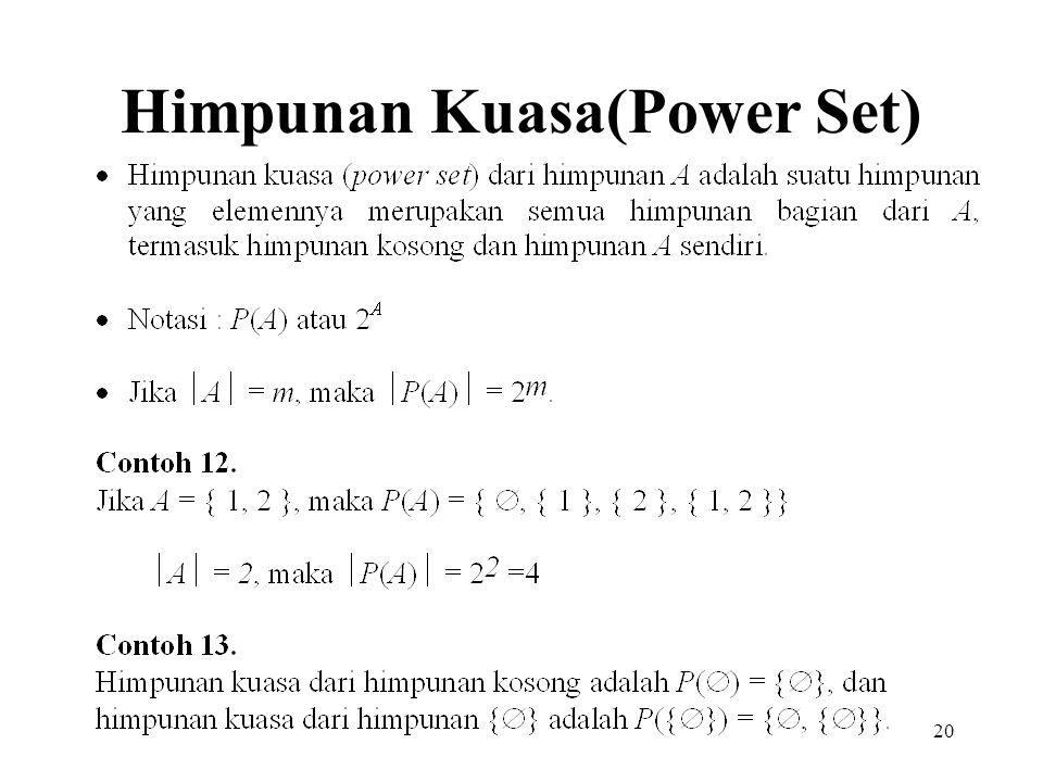 20 Himpunan Kuasa(Power Set)