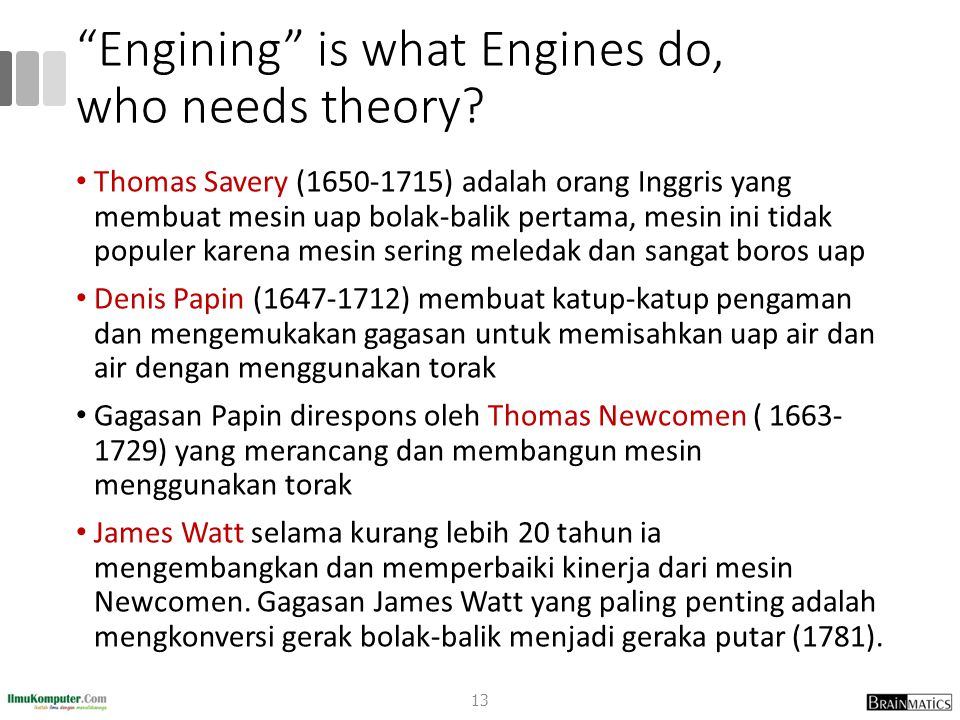 Engining is what Engines do, who needs theory.