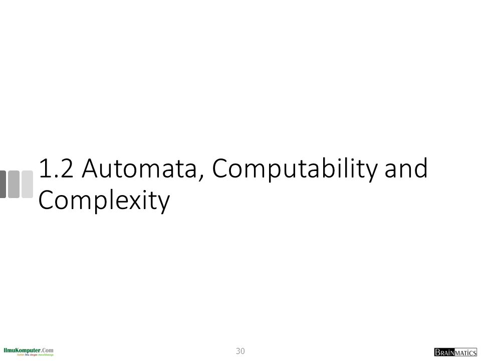 1.2 Automata, Computability and Complexity 30