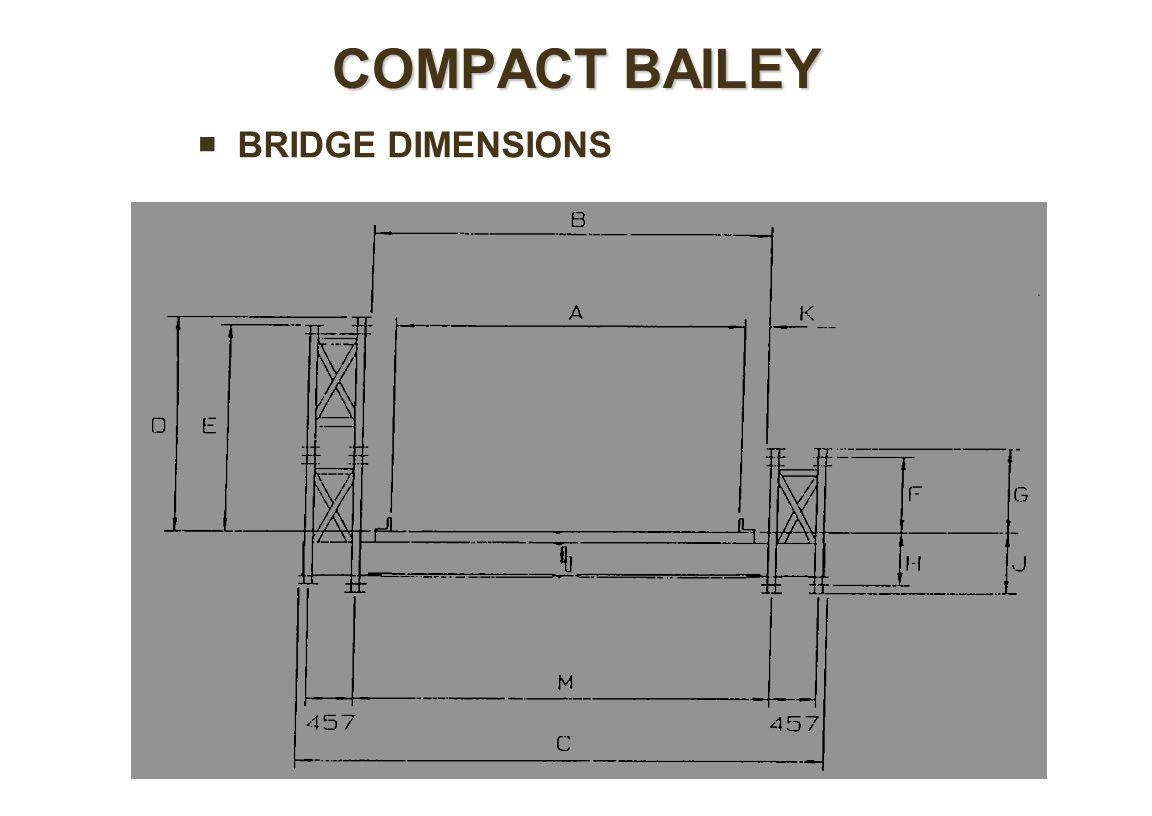  BRIDGE DIMENSIONS