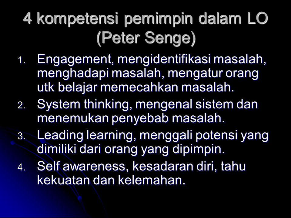 4 kompetensi pemimpin dalam LO (Peter Senge) 1.