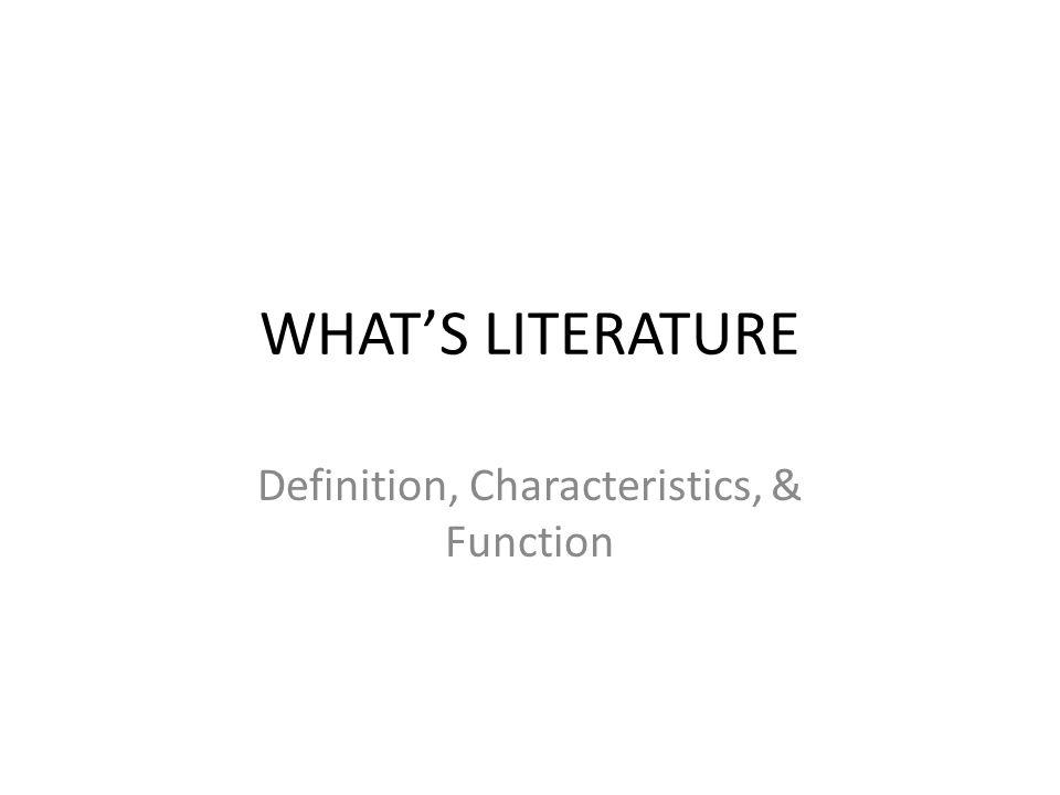 LITERATURE VS NON - LITERATURE
