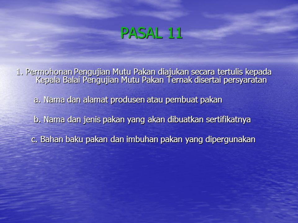 PASAL 11 PASAL 11 1.