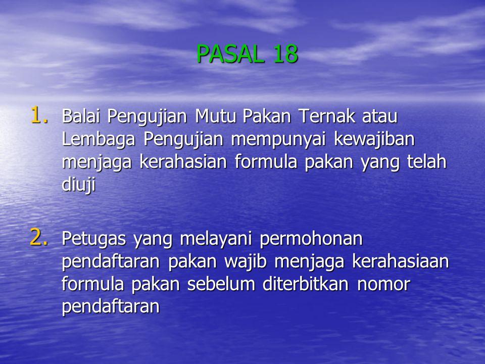 PASAL 18 PASAL 18 1.
