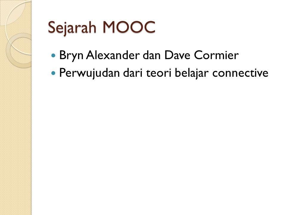 Sejarah MOOC Bryn Alexander dan Dave Cormier Perwujudan dari teori belajar connective