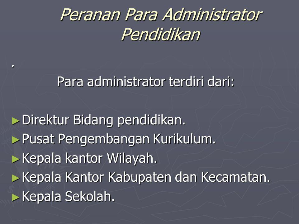 Pengembang Kurikulum Dalam mengembangan kurikulum banyak pihak yang terlibat yang turut berpartisipasi antara lain yaitu:  Administrator pendidikan,