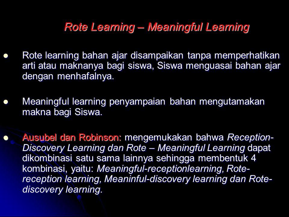 STRATEGI MENGAJAR Reception/ Exposition-Discovery Learning Reception dan Exposition mempunyai makna yang sama hanya pelaku yang berbeda Reception dan