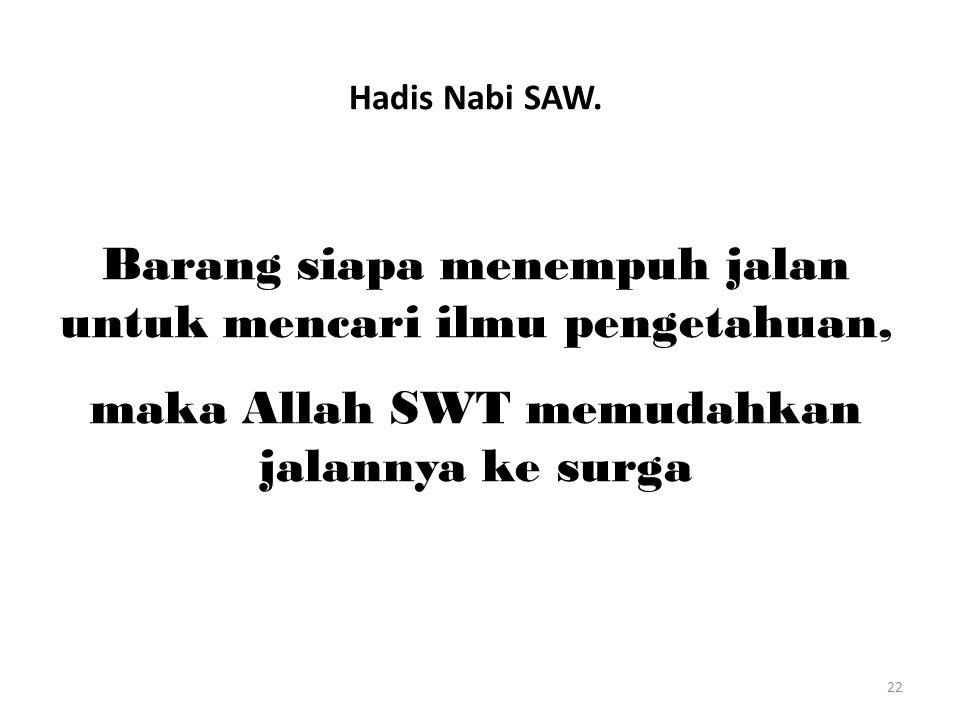 22 Hadis Nabi SAW.