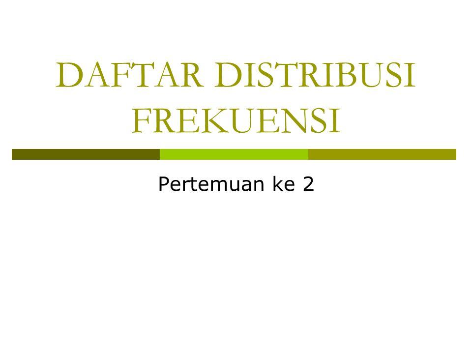 DAFTAR DISTRIBUSI FREKUENSI Pertemuan ke 2