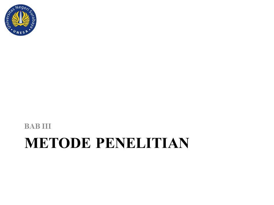 METODE PENELITIAN BAB III