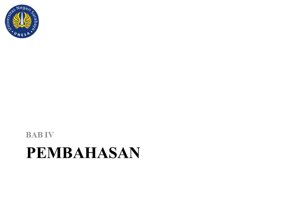 PEMBAHASAN BAB IV