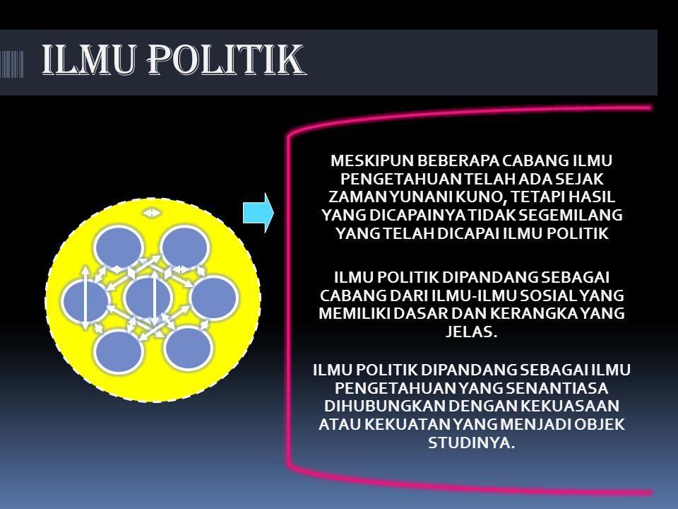 (a)Tidak ada orang yang tidak terlibat politik; (b) berpolitik adalah penentuan sikap politik terhadap situasi yang sedang berkembang. ILMU POLITIK ME