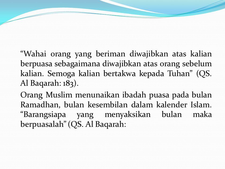 Dalam fiqih kemunculan bulan, termasuk Ramadhan, dapat diketahui melalui tiga cara: 1.